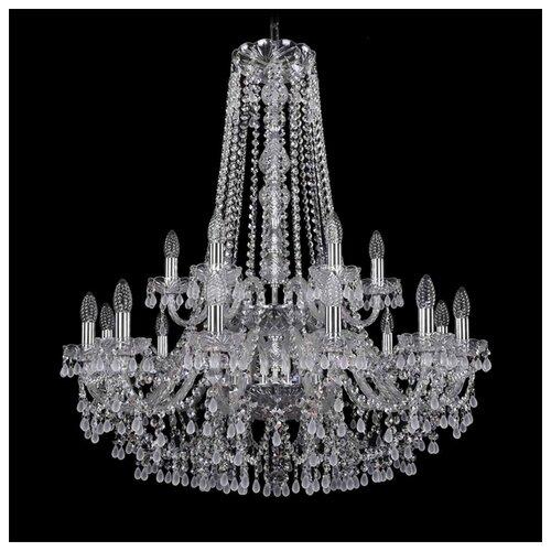 Люстра Bohemia Ivele Crystal 1410 1410/12+6/300/h-95/2d/Ni/V0300, E14, 720 Вт bohemia ivele crystal 1410 6 160 ni v0300 sh2