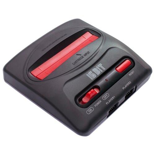Игровая приставка SEGA Magistr Drive 2 Little (160 игр) черный/красный