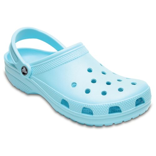 сабо женские crocs classic mammoth luxe цвет черный 204211 001 размер m7 w9 39 40 Сабо Crocs Classic, размер 39-40(M7/W9), ice blue
