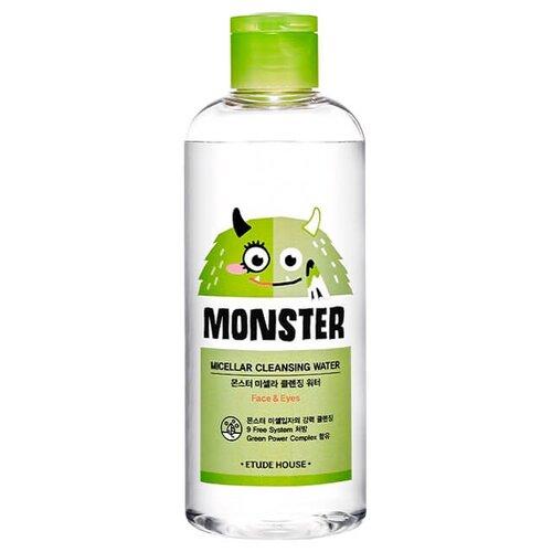 Etude House мицеллярная вода для снятия макияжа с экстрактом алоэ Monster Micellar Cleansing Water, 300 мл очищающая вода для снятия макияжа jeju sparkling cleansing water 510мл