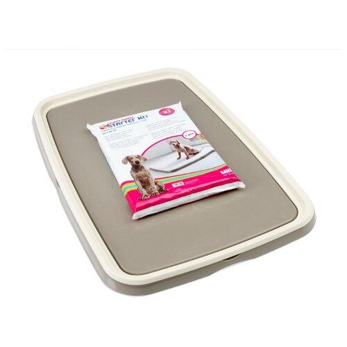 Туалет для щенков SAVIC Puppy Trainer XL 94.5х64.5х4 см белый/серый