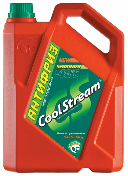 Антифриз CoolStream Standard 40, зеленый, 5 л