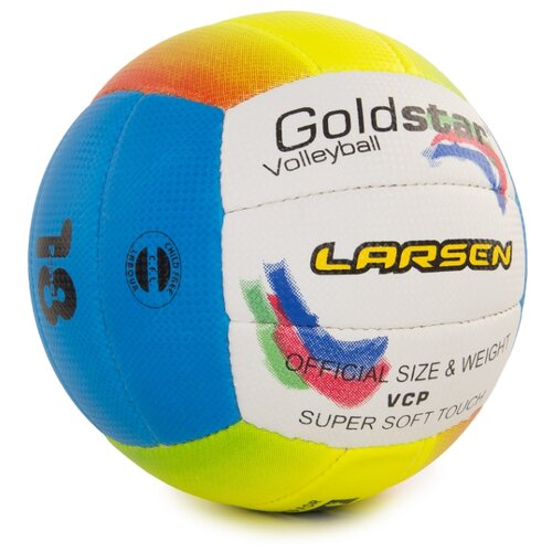 цена на Волейбольный мяч Larsen Gold Star белый/синий/желтый