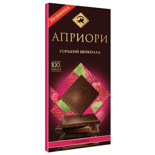 Шоколад Априори горький с малиной, 100 г цена 2017