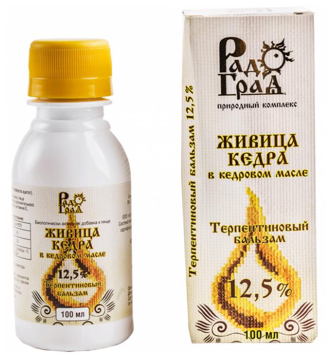 Бальзам РадоГрад Живица кедра в кедровом масле 12.5% фл. 100 мл