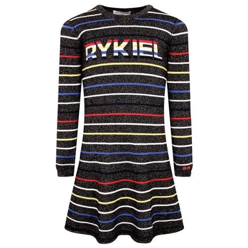 Платье Sonia Rykiel размер 104, черный/полоска