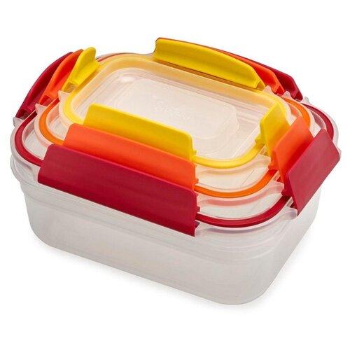Joseph Joseph Набор контейнеров для хранения продуктов Nest Lock 81082 красный/оранжевый/желтый joseph joseph nest зеленый