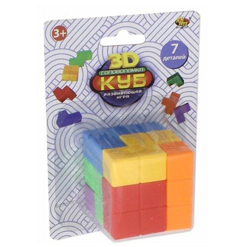 Купить Головоломка ABtoys Куб головоломка 3D, 7 деталей (PT-00707), Головоломки