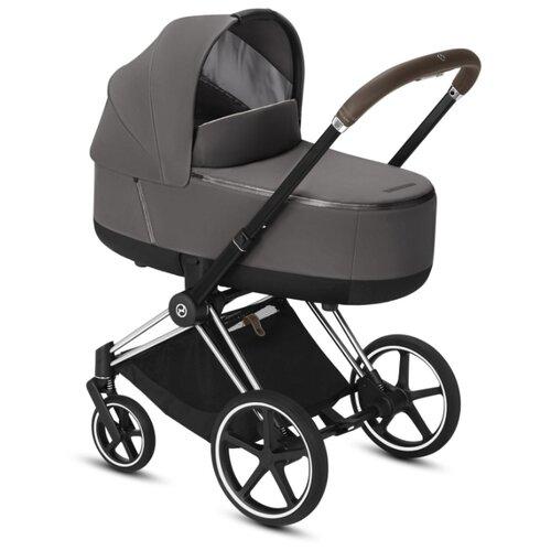 Купить Коляска для новорожденных Cybex Priam III (люлька) manhattan grey/chrome/brown, цвет шасси: серебристый, Коляски