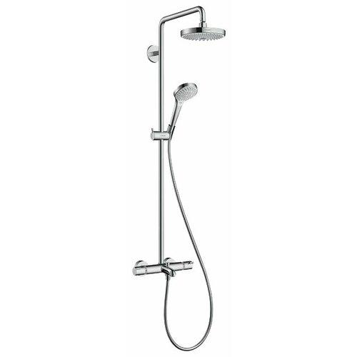 Душевая стойка hansgrohe Croma Select S 180 2jet Showerpipe 27351400 комбинированное душевая стойка hansgrohe croma 27352400