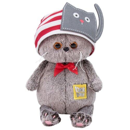 Купить Мягкая игрушка Basik&Co Кот Басик baby в шапочке с котиком 20 см, Мягкие игрушки