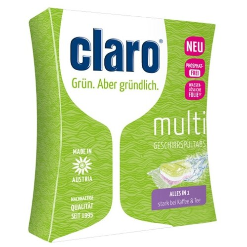 Claro Eco Multi All in One для посудомоечной машины, 30 шт.