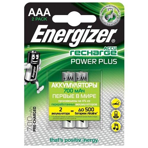 Фото - Аккумулятор Ni-Mh 700 мА·ч Energizer Accu Recharge Power Plus AAA 2 шт блистер аккумулятор ni mh 2600 ма·ч varta recharge accu power 2600 aa 4 шт блистер