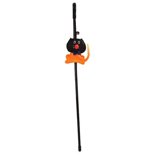 Дразнилка для кошек Fauna International с кошкой (FICT-0002) черный/оранжевый
