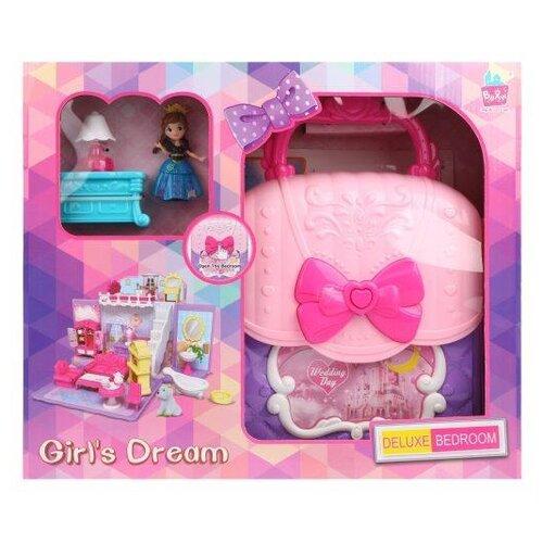 Купить Наша игрушка кукольный домик 8988, розовый/фиолетовый, Кукольные домики