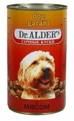 Корм для собак Dr. Alder`s ДОГ ГАРАНТ говядина кусочки в желе Для взрослых собак (1.2 кг) 6 шт.