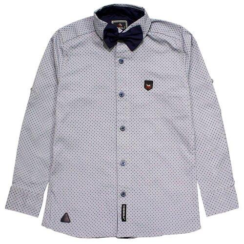 Купить Рубашка TEO & NIK размер 122, серый, Рубашки