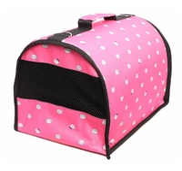 Переноска-сумка для собак Lion Standart M 43х27х29 см розовый цветы
