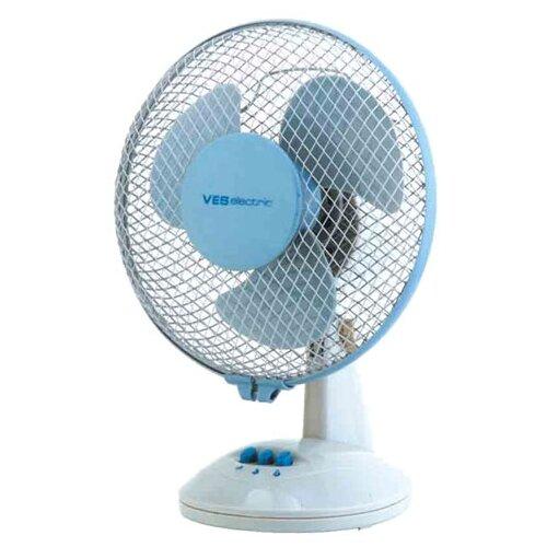 Настольный вентилятор VES electric VD 252 белый/голубой