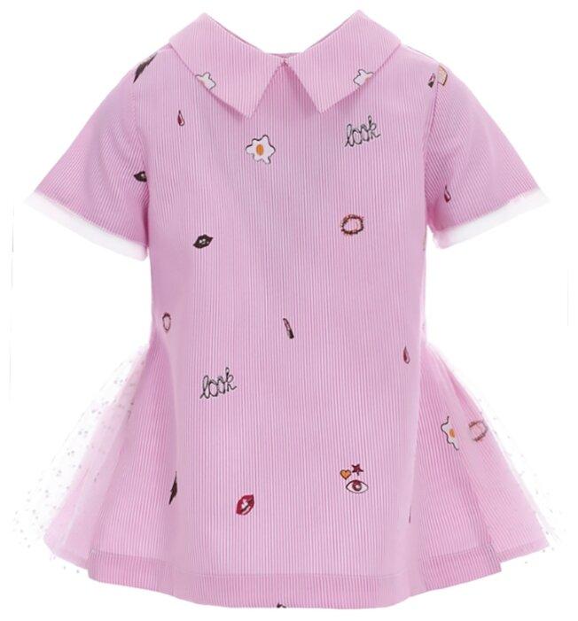 Блузка Silver Spoon размер 110, розовый в полоску