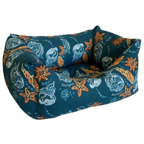 Лежак для кошек ZOOexpress Пухлик Ривьера №2 43х32х21 см темно-синий
