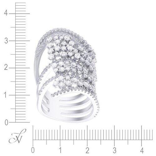 Фото - JV Кольцо с фианитами из серебра DM0942R-001-WG, размер 18 jv кольцо с ониксами и фианитами из серебра pr150002b ox 001 wg размер 17