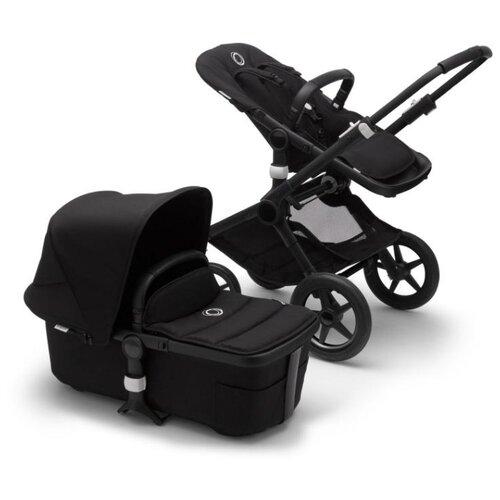 цена Универсальная коляска Bugaboo Fox 2 complete (2 в 1) black/black/black, цвет шасси: черный онлайн в 2017 году