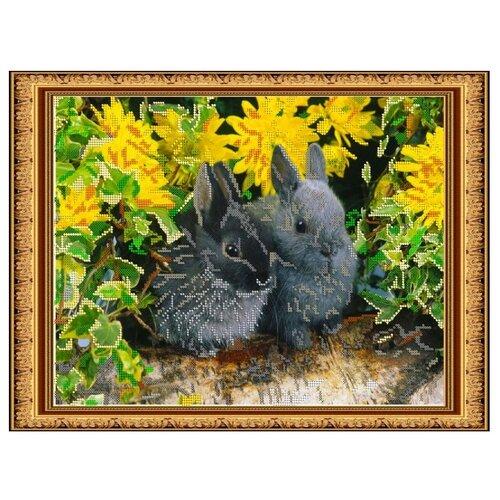 Купить Светлица Набор для вышивания бисером Кролики 36 х 27 см (058), Наборы для вышивания