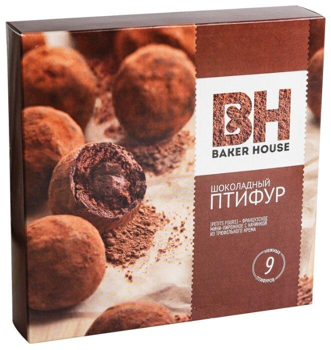 Мини-пирожные шоколадный Птифур Baker House с трюфельным кремом, 25г × 9 шт.