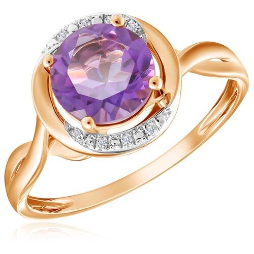 Бронницкий Ювелир Кольцо из красного золота R01-D-69023R002-R17, размер 16.5 кольцо из золота r01 d 68997r001 r