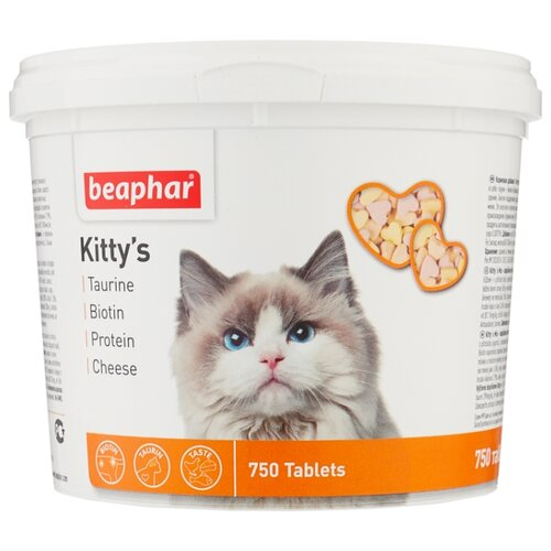 Добавка в корм Beaphar Kittys Mix 750 шт.Витамины и добавки для кошек и собак<br>