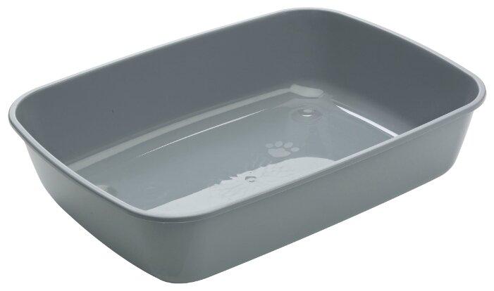 Туалет-лоток для кошек SAVIC Iriz M 42х30.5х10 см серый