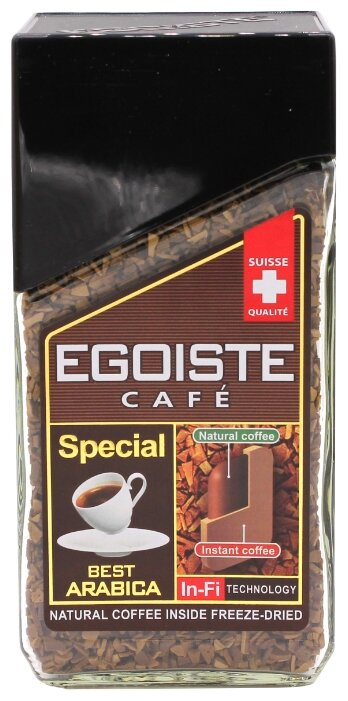 Кофе растворимый Egoiste Special с молотым кофе