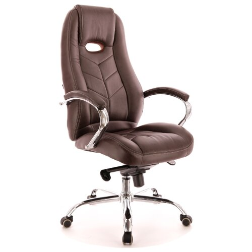 Фото - Компьютерное кресло Everprof Drift M для руководителя, обивка: искусственная кожа, цвет: коричневый компьютерное кресло everprof trend tm для руководителя обивка искусственная кожа цвет черный