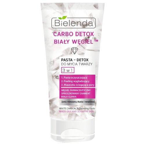 Bielenda паста для умывания лица 3 в 1 Белый уголь Carbo Detox, 150 мл