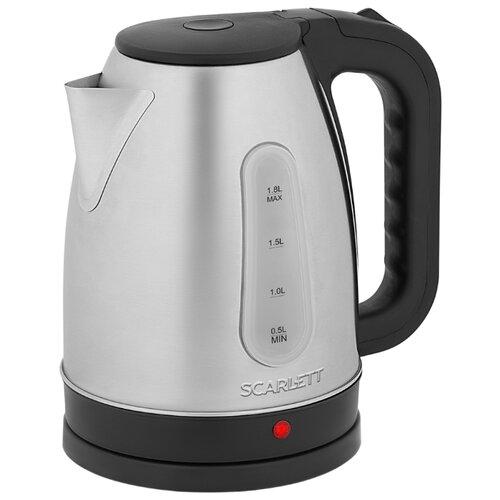 Чайник Scarlett SC-EK21S95, сталь чайник электрический scarlett sc ek21s95 2200 вт серебристый чёрный 1 8 л металл