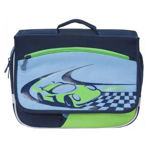 Grizzly Рюкзак (RK-997-1), темно-синий/голубой/салатовый grizzly рюкзак школьный grizzly темно синий