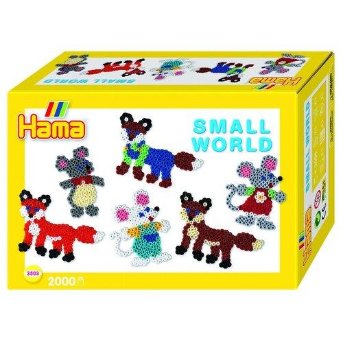 Купить Hama Набор термомозаики Маленький мир Морской мышка, лиса midi (3503), Аппликации