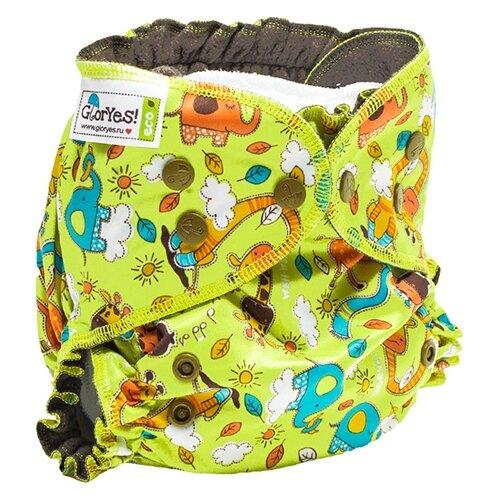 Купить GlorYes! подгузники Optima NEW (3-18 кг) 1 шт. жирафы, Подгузники