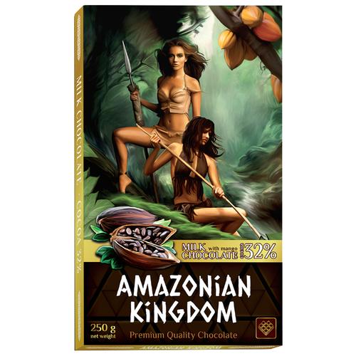 Шоколад Libertad Королевство Амазонок молочный с натуральным манго, 250 гШоколадная плитка<br>