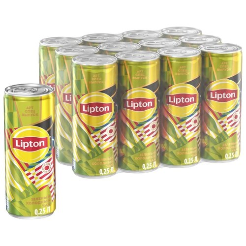 Чай Lipton Зеленый, банка, 0.25 л, 12 шт.