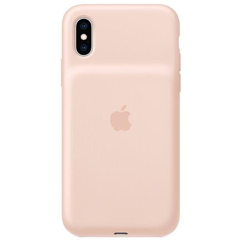 Чехол-аккумулятор Apple Smart Battery Case для Apple iPhone XS розовый песок чехол аккумулятор для iphone xs apple smart battery case pink sand клип клейс силикон беспроводная зарядка