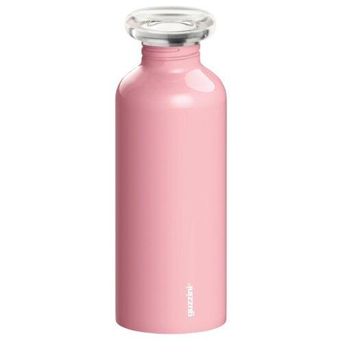 Бутылка для воды, для безалкогольных напитков Guzzini On the Go Everyday 0.65 металл, пластик pink