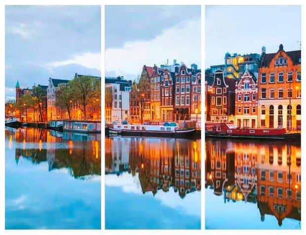 Модульная картина Ekoramka Амстердам 90х70 см