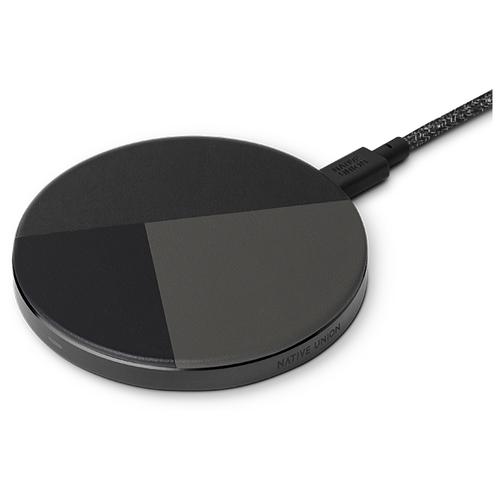 Купить Беспроводная сетевая зарядка Native Union Drop Marquetry Wireless Charger black/grey