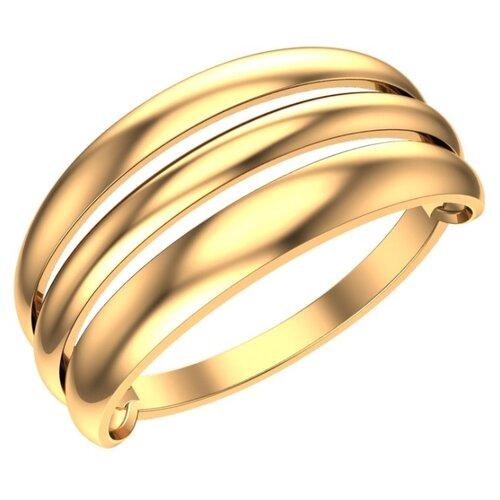 POKROVSKY Женское золотое кольцо без вставок Стиль 1100875-00240, размер 18
