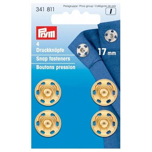 Купить Prym Кнопки пришивные 341811, золотистый, 17 мм, 4 шт.
