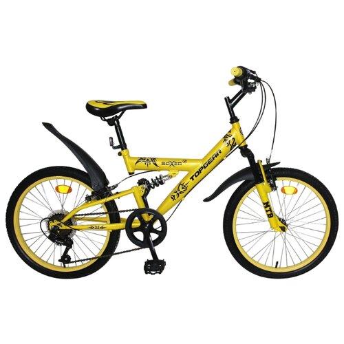 Подростковый горный (MTB) велосипед Top Gear Boxer (ВН20204) желтый (требует финальной сборки) top gear велосипед 24 mystic 110 18 скоростей белый вн24058