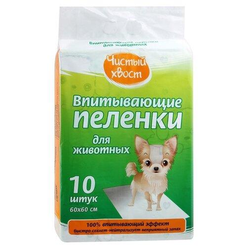 Пеленки для собак впитывающие Чистый хвост 56487/CT606010 60х60 см 10 шт. пеленки для собак впитывающие чистый хвост 68636 ct4560200 60х45 см 200 шт
