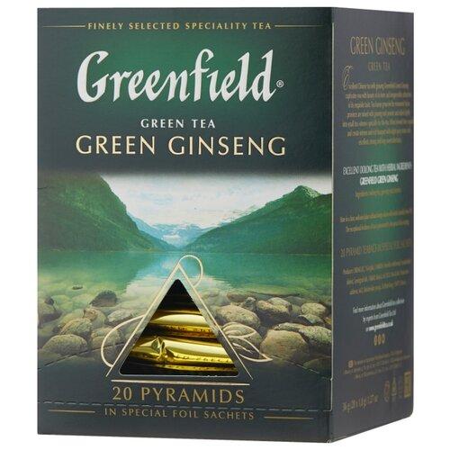 Чай улун Greenfield Green Ginseng в пирамидках , 36 г , 20 шт.